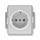 Zásuvka DIN, jednonásobná, s clonkami