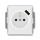 Zásuvka s USB nabíjením, jednonásobná bezšroubová