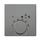 Kryt termostatu pro topení,chlazení, s přepínačem