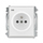 Zásuvka s ochranou před přepětím, jednonásobná bezšroubová, s akustickou signalizací