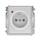 Zásuvka s ochranou před přepětím, jednonásobná bezšroubová, s optickou signalizací