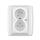 Zásuvka s ochranou před přepětím, dvojnásobná bezšroubová, s akustickou signalizací