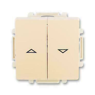ABB 3557G-A89340 C1 Swing Spínač žaluziový jednopólový, řazení 1+1 s blokováním, s krytem