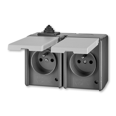 ABB 5518-2029 S Zásuvka dvojnásobná, IP44 IPxx