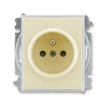 ABB 5519E-A02357 21 Element Zásuvka jednonásobná, chráněná, s clonkami, s bezšroub. sv.