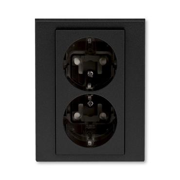 ABB 5522H-C03457 63 Jiné systémy zásuvek Zásuvka dvojnásobná s ochrannými kontakty (podle DIN), s cl