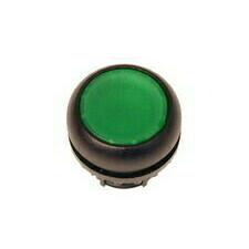 EATON 216597 M22S-D-G Ovládací hlavice tlačítka, zapuštěné tlačítko, bez aretace, černý kroužek, zel