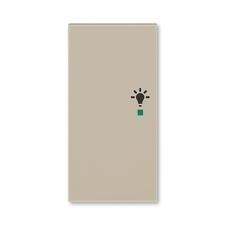ABB 6220H-A02101 18 free@home Kryt 2násobný levý, symbol osvětlení