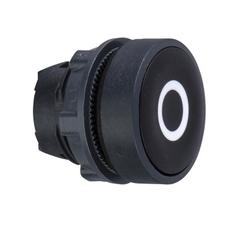 SCHN ZB5AA232 Ovládací hlavice stiskací se symbolem, lícující - černá