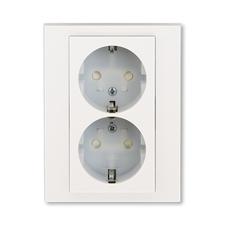 ABB 5522H-C03457 68 Jiné systémy zásuvek Zásuvka dvojnásobná s ochrannými kontakty (podle DIN), s cl