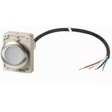 EATON 185968 C30C-FDR-W-K10-P65 Kompaktní zapuštěné tlačítko s kabelem 3.5m a volným koncem, s areta