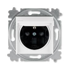 ABB 5519H-A02997 62 IPxx Zásuvka jednonásobná s ochr. kolíkem, s clonkami, s víčkem, IP44