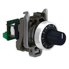 SCHN XB4BD912R100K XB4 kompletní potenciometr, lineární, 100 kOhm RP 0,12kč/ks
