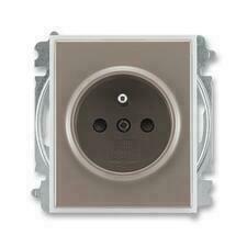 ABB 5519E-A02357 26 Time Zásuvka jednonásobná, chráněná, s clonkami, bezšroubové svorky
