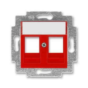 ABB 5014H-A01018 65 Levit Kryt zásuvky komunikační přímé (2x), s kovovým upevňovacím třmenem