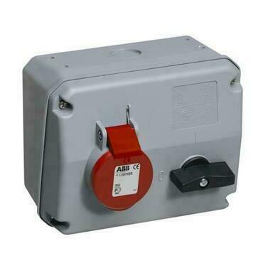 ABB 2CMA167631R1000 Průmyslové vidlice a z. Zásuvka s blokovaným vypínačem, horizontální, 4p., 16 A,
