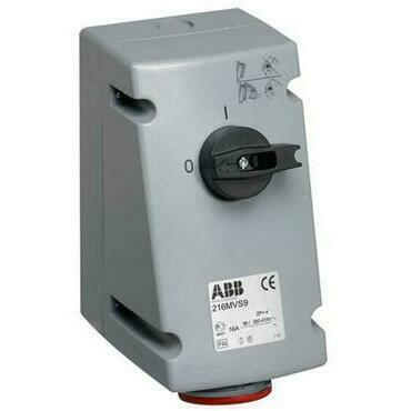 ABB 2CMA167663R1000 Průmyslové vidlice a z. Zásuvka s blokovaným vypínačem, 5p., 16 A, IP44, 6 h