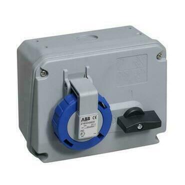 ABB 2CMA167801R1000 Průmyslové vidlice a z. Zásuvka s blokovaným vypínačem, 3p., 16 A, IP67, 6 h
