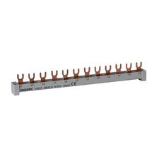 NOARK 101446 BBU 1L 10 M54 Propojovací lišta, 1fázová, 10mm2, 63A, 54 modulů (1m)