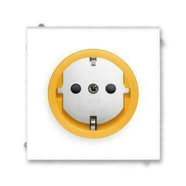 ABB 5518M-A03459 43 Jiné systémy zásuvek Zásuvka jednonásobná s ochrannými kontakty (podle DIN), s c