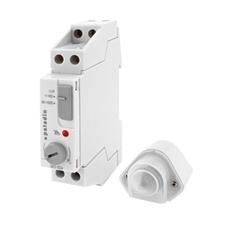 EL 1008149 Spínač soumrakový PALADIN 923500, 1-1000lux, 16A, s ext. čidlem, IP54, šedý, na DIN