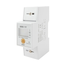 EL 1000899 Elektroměr DDS-1Y RESET 80A, 2mod., LCD, 1-fáz., 1-tar., podružný RP 0,60kč/ks