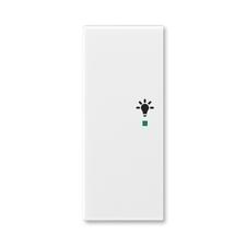 """ABB 6220E-A02101 01 free@home Kryt 2násobný levý, symbol """"osvětlení"""""""