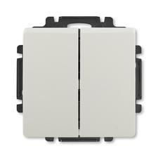 ABB 3557G-A87340 S1 Swing Ovládač zapínací dvojitý, řazení 1/0+1/0, s krytem
