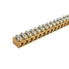 EL 1000744 Svorkovnice N/PE mosazná NSCH 15x10x1000mm/dvouřadá, IP00, 111 přip. míst, 25mm2