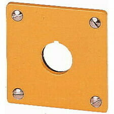 EATON 216542 M22-EY1 Čelní deska do panelu, Al, žlutý lak, IP65, 1 montážní místo