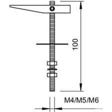 458 M4x100 G Sklápěcí závěs
