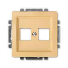 ABB 5014G-A02018 D1 Kryt zásuvky komunikační přímé (2x), s kovovým upevňovacím třmenem Swing