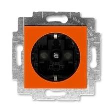 ABB 5520H-A03457 66 Jiné systémy zásuvek Zásuvka jednonásobná s ochrannými kontakty (podle DIN), s c