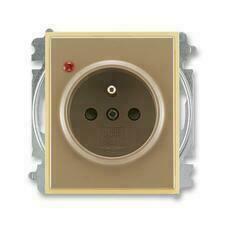 ABB 5599E-A02357 25 Element Zásuvka jednonásobná s clon., s ochranou před přepětím, bezšroub. sv.