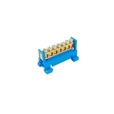 EL 1000011 Můstek N 7 (svorkovnice 7x16mm2), nekrytý IP00, modrý, 63A, na DIN