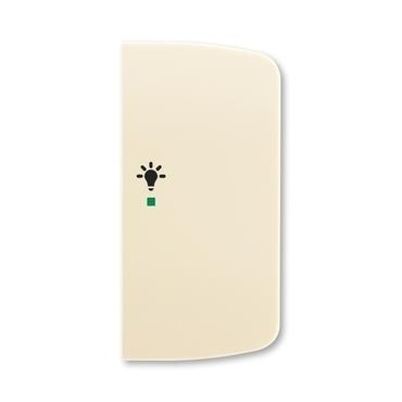 ABB 6220A-A02201 C free@home Kryt 2násobný pravý, symbol osvětlení