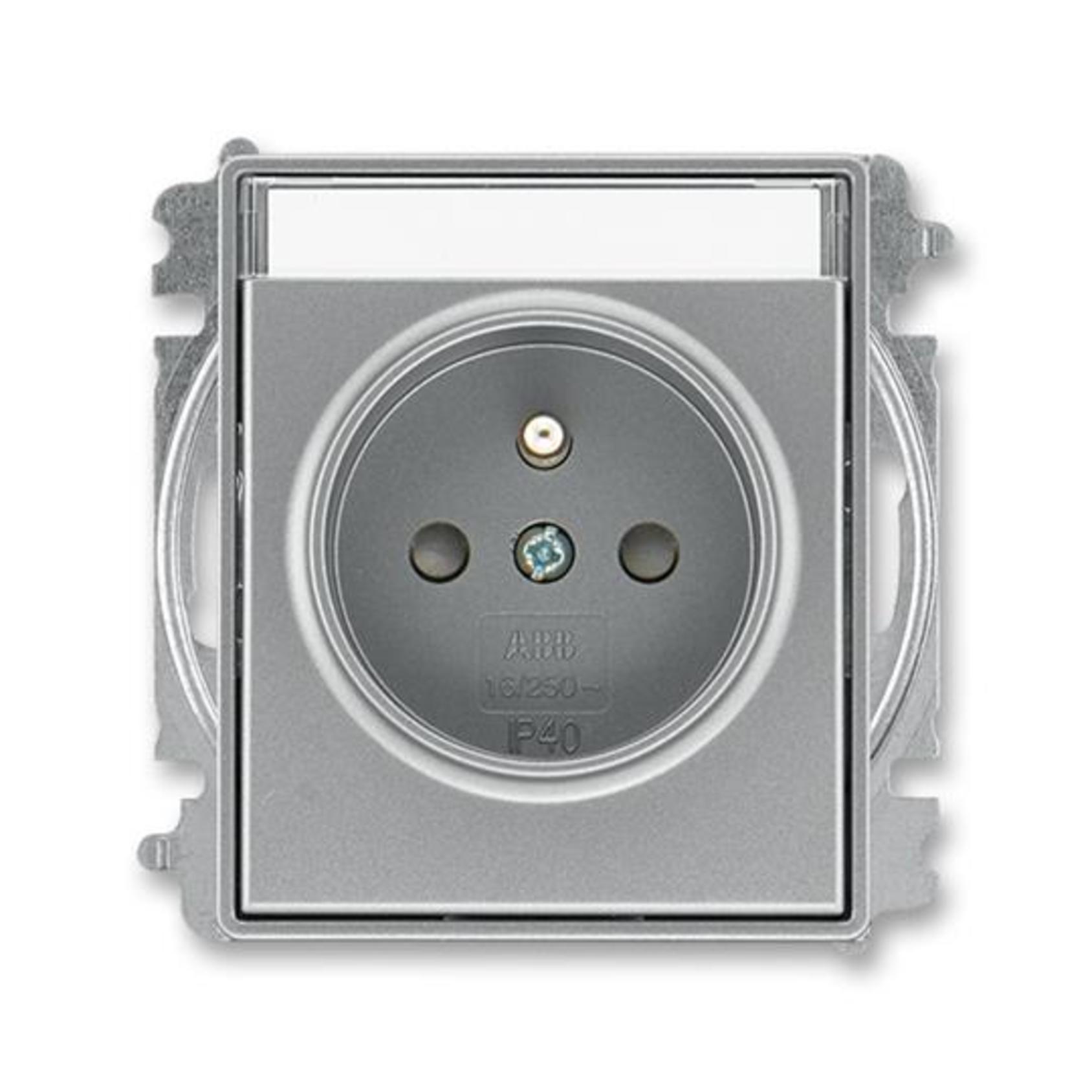 ABB 5519E-A02352 36 Time Zásuvka jednonásobná, chráněná, s clon., s bezšr. sv., s popis. polem