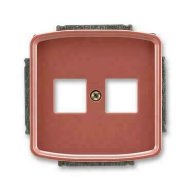 ABB 5014A-A02018 R2 Tango Kryt zásuvky komunikační přímé (2x), s kovovým upevňovacím třmenem