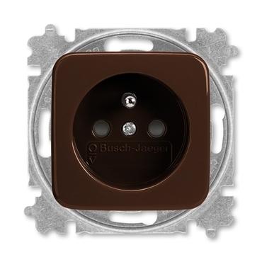 ABB 5519B-A02357 H Zásuvka jednonásobná chráněná, s clonkami, s bezšroub. svorkami Zdravotnictví
