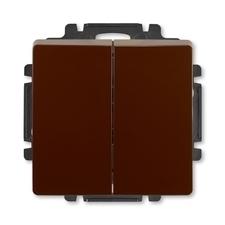 ABB 3557G-A87340 H1 Swing Ovládač zapínací dvojitý, řazení 1/0+1/0, s krytem
