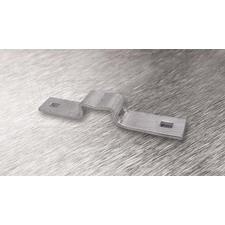 wpr8382 PTA-CON1-AL držák na sloup CONTINENTAL 1 ALU pro pásy do š. 13 mm, zadní, + 2x Zn šroub M8x2