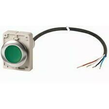 EATON 185970 C30C-FDR-G-K10-P65 Kompaktní zapuštěné tlačítko s kabelem 3.5m a volným koncem, s areta