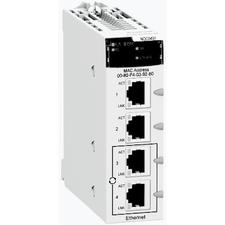 SCHN BMXNOC0401 >Ethernet 10/100 Mb/s, 4*RJ45 (Modbus TCP, Ethernet IP, QoS, RSTP, FDT/DTM), pracovn