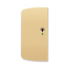 ABB 6220A-A02101 D free@home Kryt 2násobný levý, symbol osvětlení