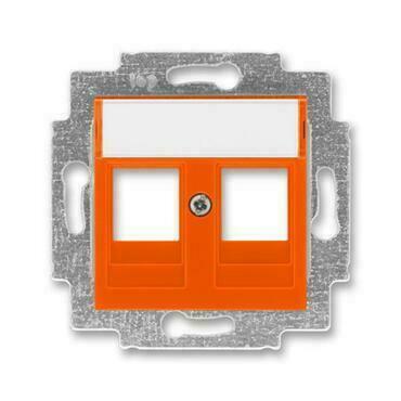 ABB 5014H-A01018 66 Levit Kryt zásuvky komunikační přímé (2x), s kovovým upevňovacím třmenem