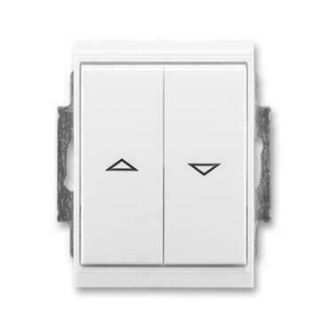 ABB 3558E-A88943 03 IPxx Ovládač žaluziový jednopólový (1/0+1/0 s blokováním), IP44