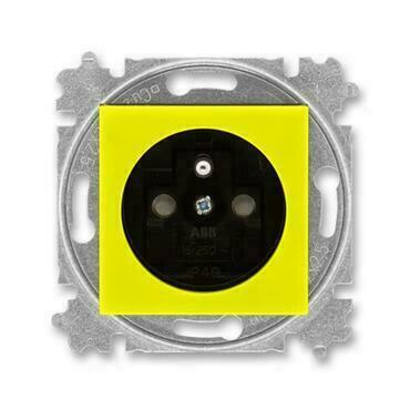 ABB 5519H-A02357 64 Levit Zásuvka jednonásobná s ochranným kolíkem, s clonkami