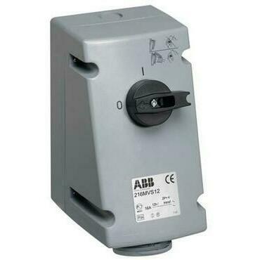 ABB 2CMA167646R1000 Průmyslové vidlice a z. Zásuvka s blokovaným vypínačem, 3p., 16 A, IP44, 6 h