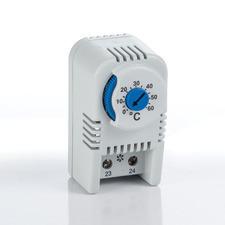 PL-PTVT Termostat NO spínací, rozsah nastavení 0-60°C 61x34x38mm 2p svork IP20