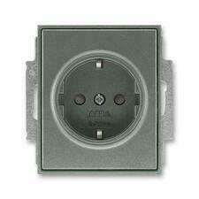 ABB 5518E-A03459 34 Jiné systémy zásuvek Zásuvka jednonásobná s ochr. kontakty (podle DIN), s clonka